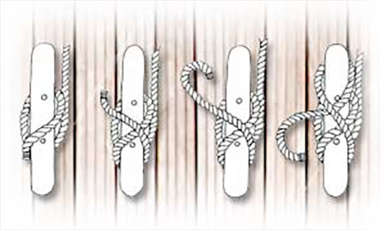 The Cleat Hitch Knot. Dock Lines, Fender Ties, Towing Products, Anchor Lines, Anchor Bags, Fender Covers, Boating Products and more...